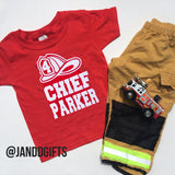 Fire Chief Birthday Shirt - J and D Gifts
