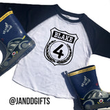 Police Officer Birthday Raglan - J and D Gifts