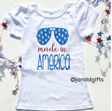 Girls Made in America Shirt or Onesie - J and D Gifts