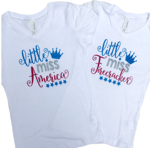 Girl's 4th of July Shirt or Onesie - J and D Gifts