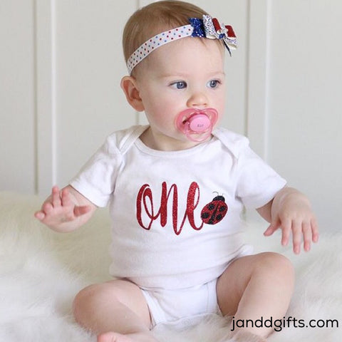Ladybug First Birthday Onesie - J and D Gifts
