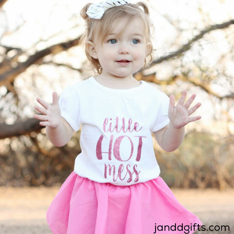 Little Hot Mess Shirt or Onesie - J and D Gifts