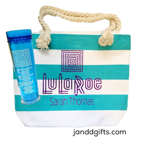 Lularoe Canvas tote and tumbler set