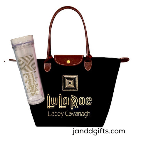 lularoe tote and tumbler set