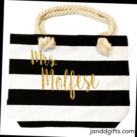 Mrs Canvas Tote Bag - J and D Gifts