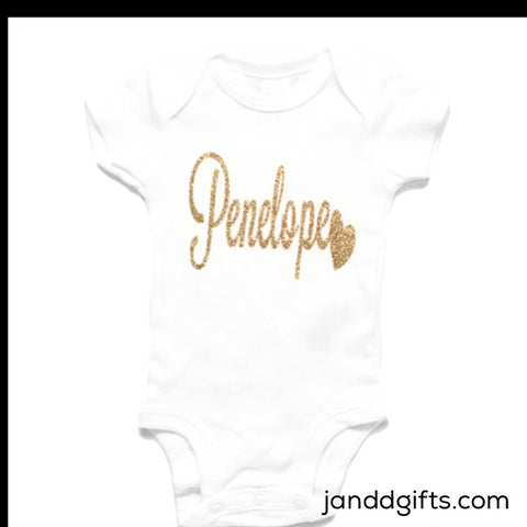 New Baby Girl Onesie - J and D Gifts
