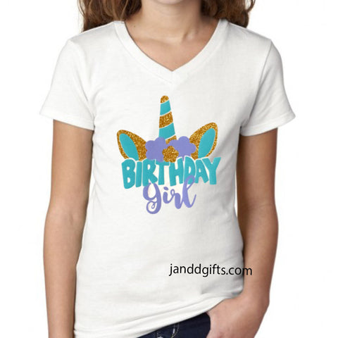 Unicorn Birthday Shirt or Onesie - J and D Gifts