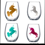 Unicorn Wine Glass - J and D Gifts
