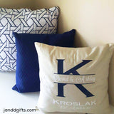 Wedding Monogram Pillowcase - J and D Gifts