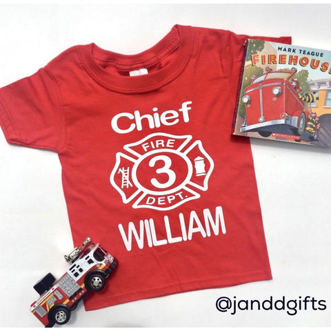 Fireman Birthday Shirt - J and D Gifts