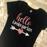 Hello ____. Custom Girls School Shirt - J and D Gifts