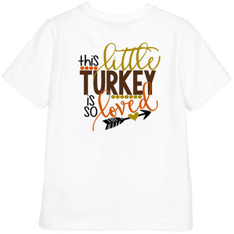 This Little Turkey is so Loved Shirt or Onesie - J and D Gifts
