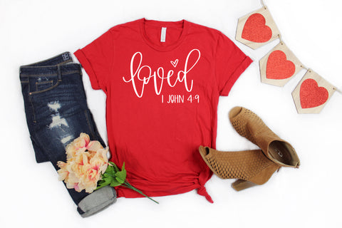 """Loved Scripture"" Tee or Raglan - J and D Gifts"