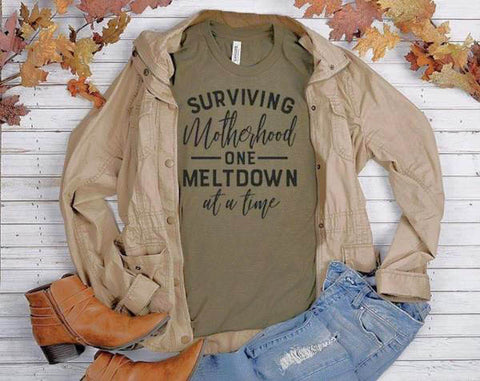 Surviving Motherhood Shirt - J and D Gifts