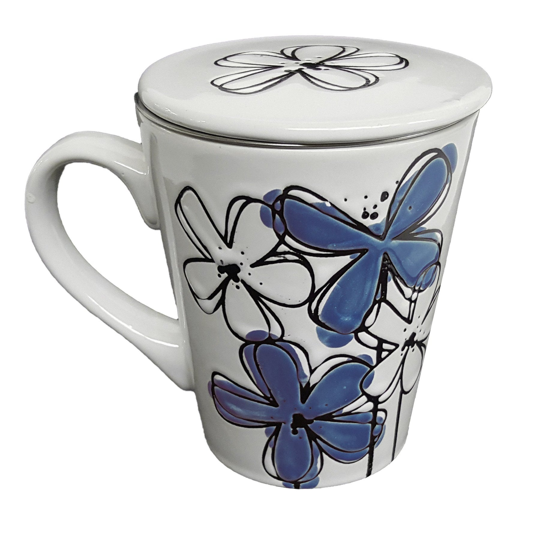 Purple Flower Tea Mug