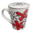 Red Flower Tea Mug
