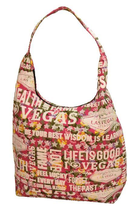 MEDIUM FLORAL BEACH BAG W / ZIPPER (PINK)
