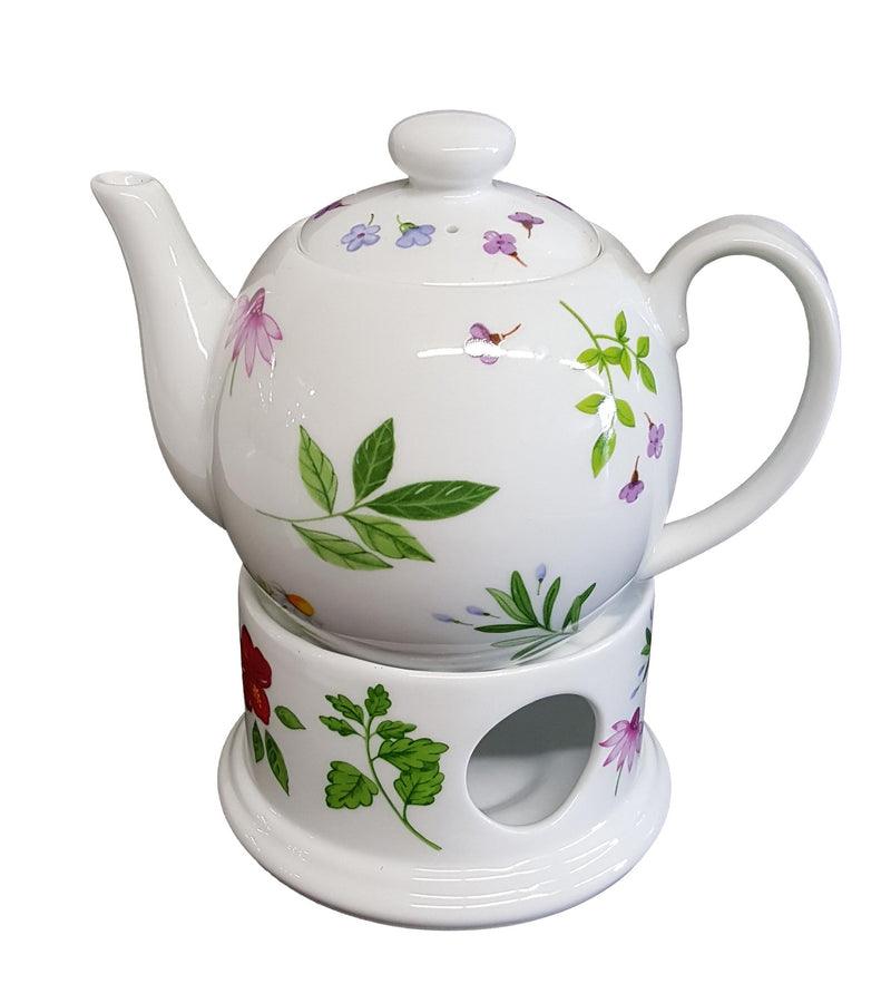 Tea pot & Warmer set - Flower