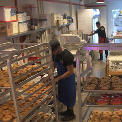 The Pie Piper and Doornut Doughnuts being made