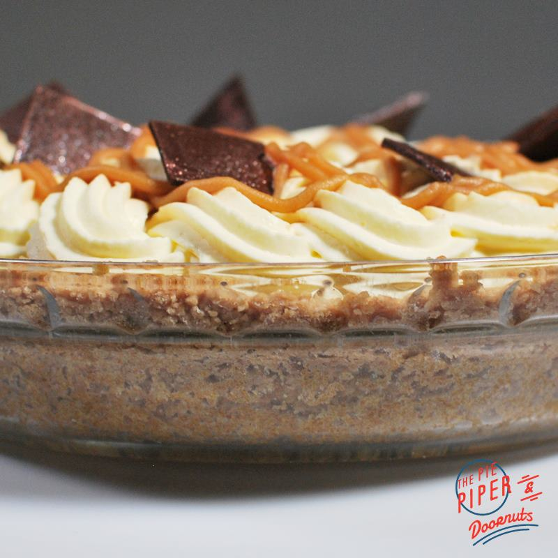 Banoffee Cream Deep Dish Pie Slice (GF)