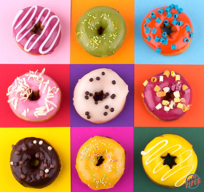 Custom Colour Frosted Donuts - 1 Dozen