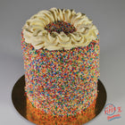 Piper Rainbow Candy Topped Birthday Cake