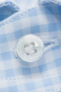 Blue Medium Check Dress Shirt
