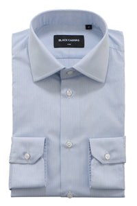 Dark Blue Grid Check Dress Shirt
