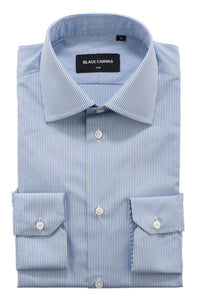 Dark Blue Stripe Dress Shirt