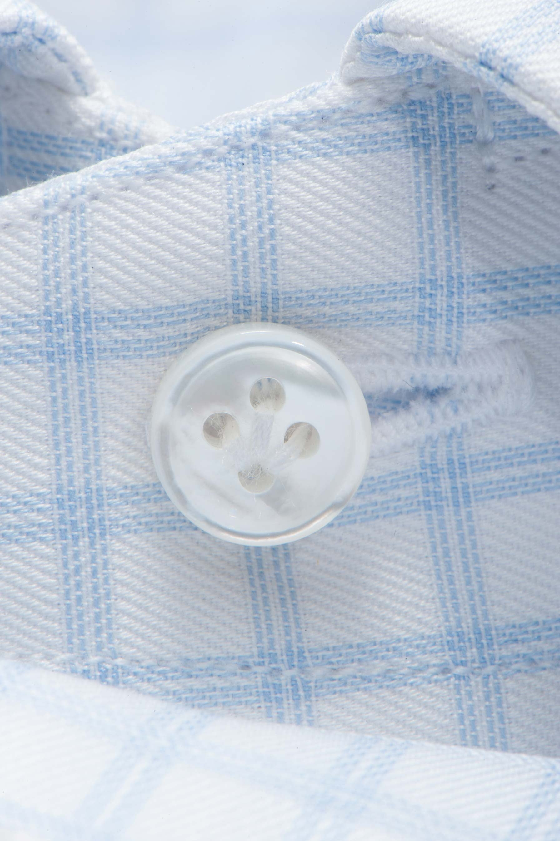 Blue Double Check Dress Shirt