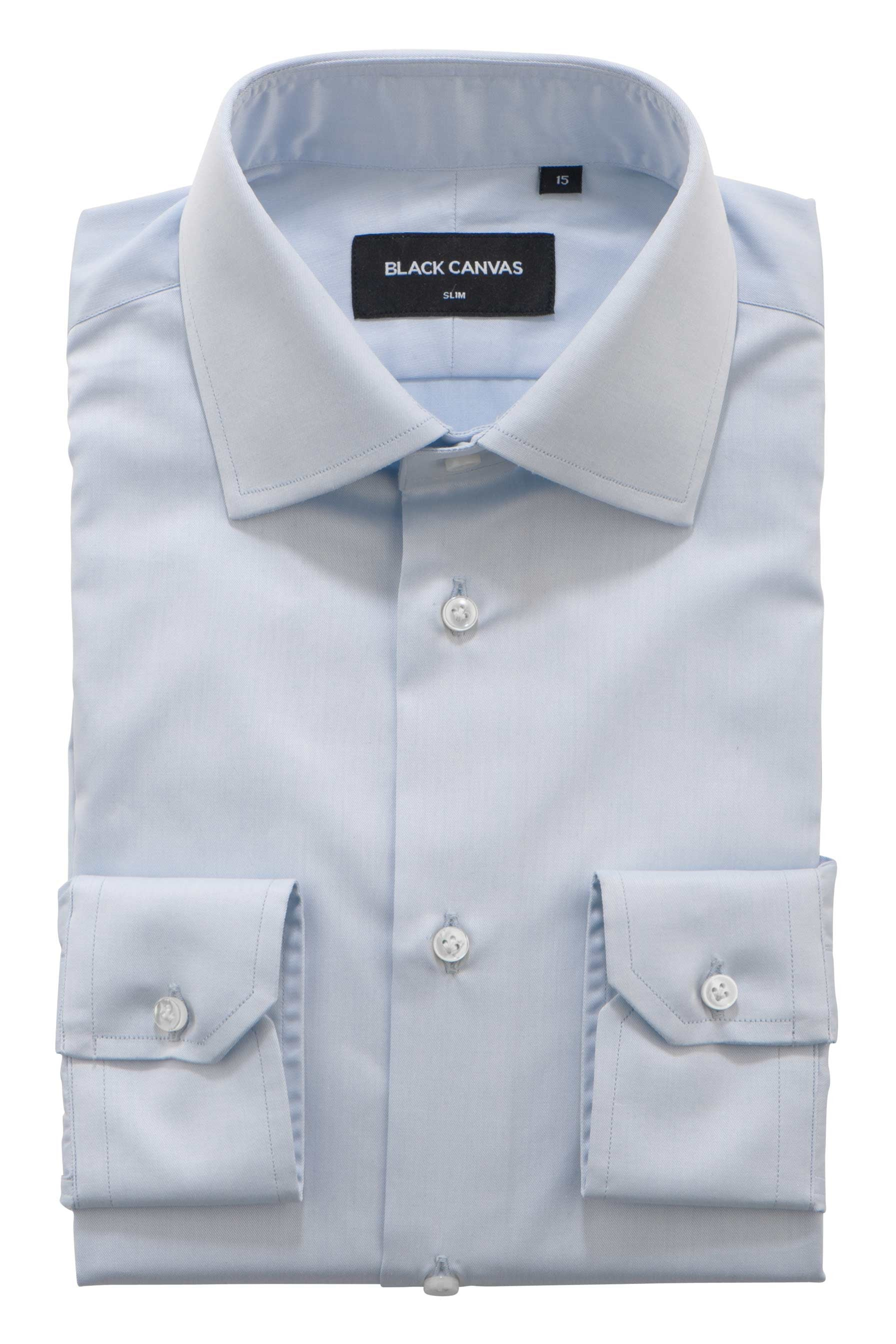 Light Blue Fine Twill Dress Shirt