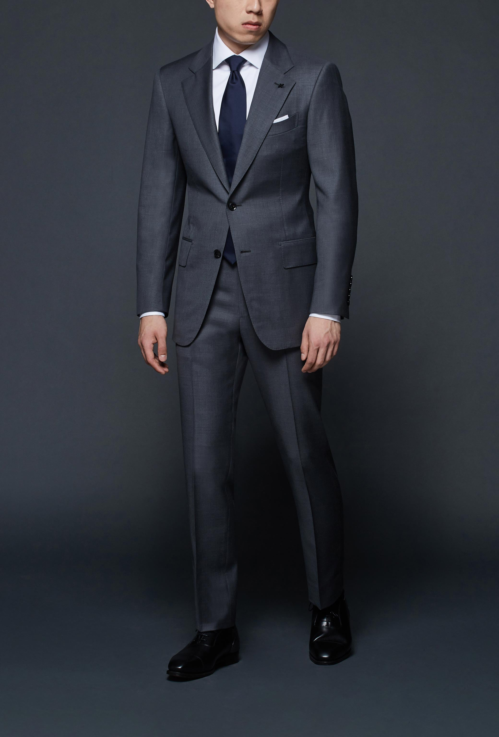 Medium Grey Notch Lapel Suit