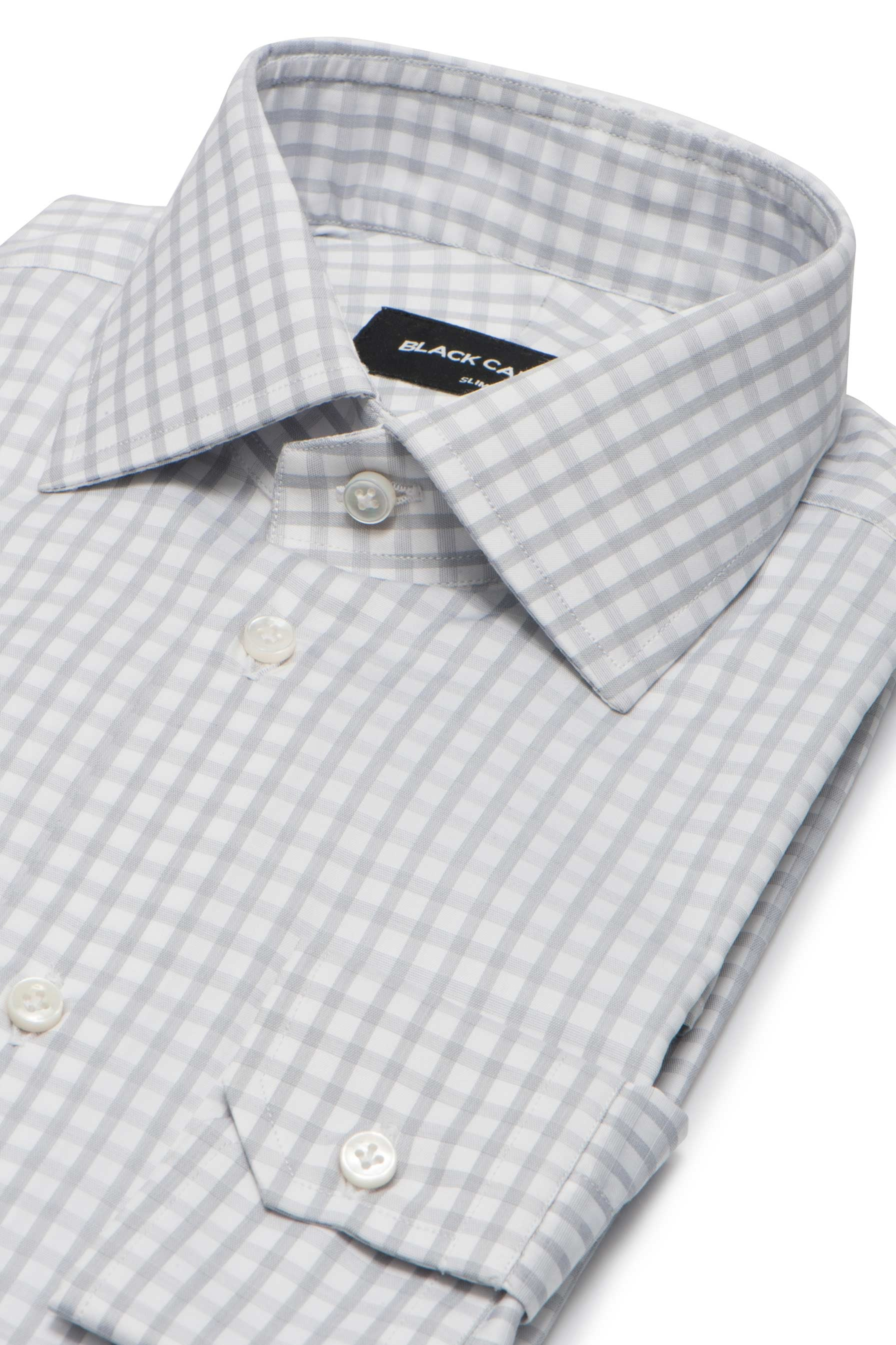 Grey Medium Check Dress Shirt