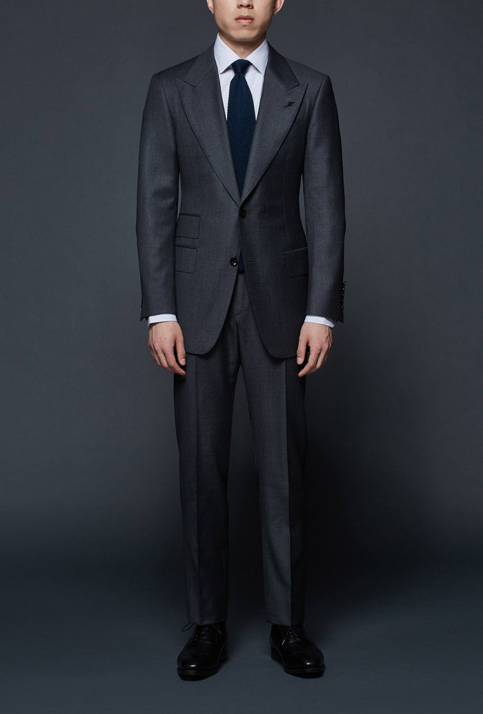 Medium Grey Wide Peak Lapel Suit