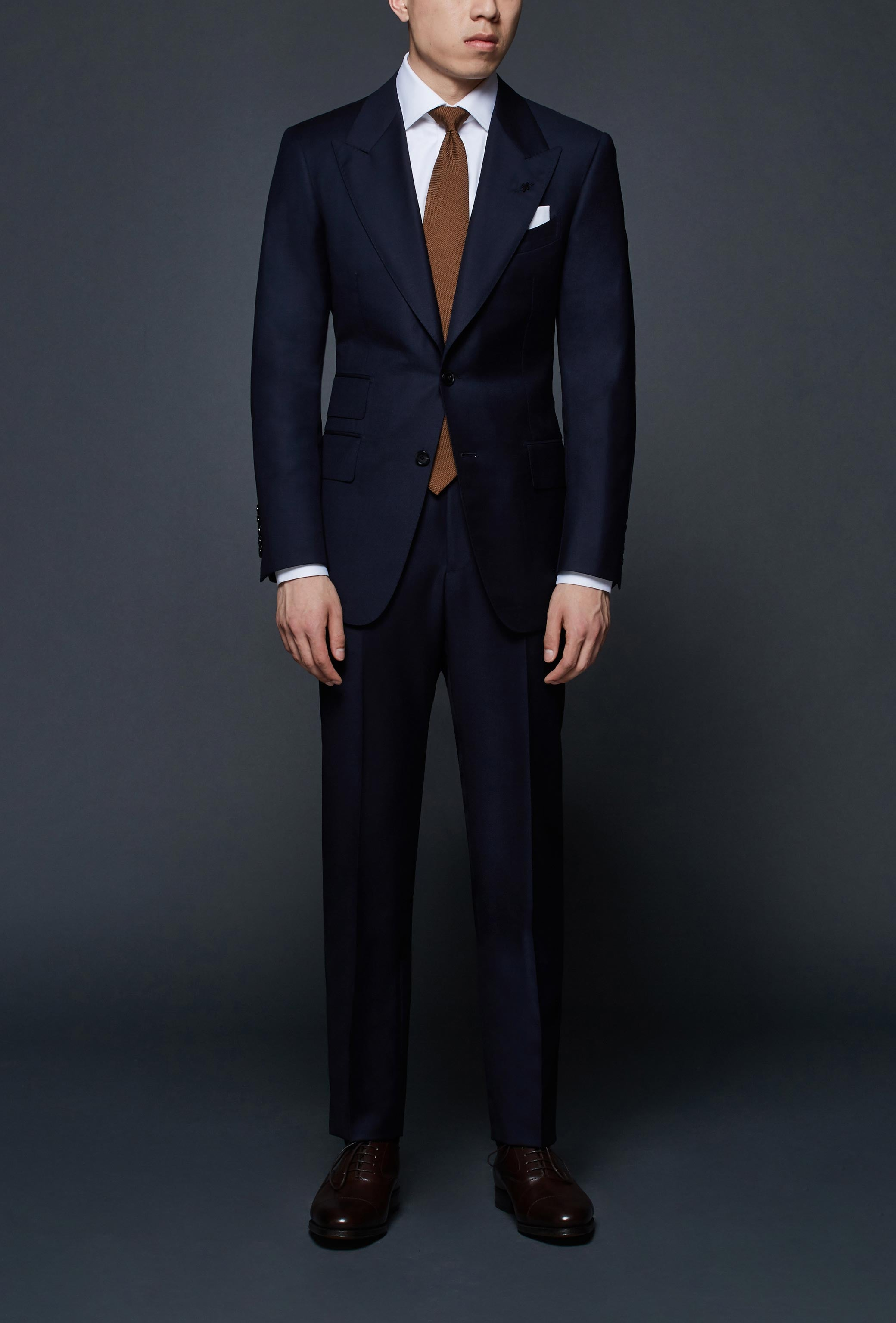 Classic Navy Peak Lapel Suit