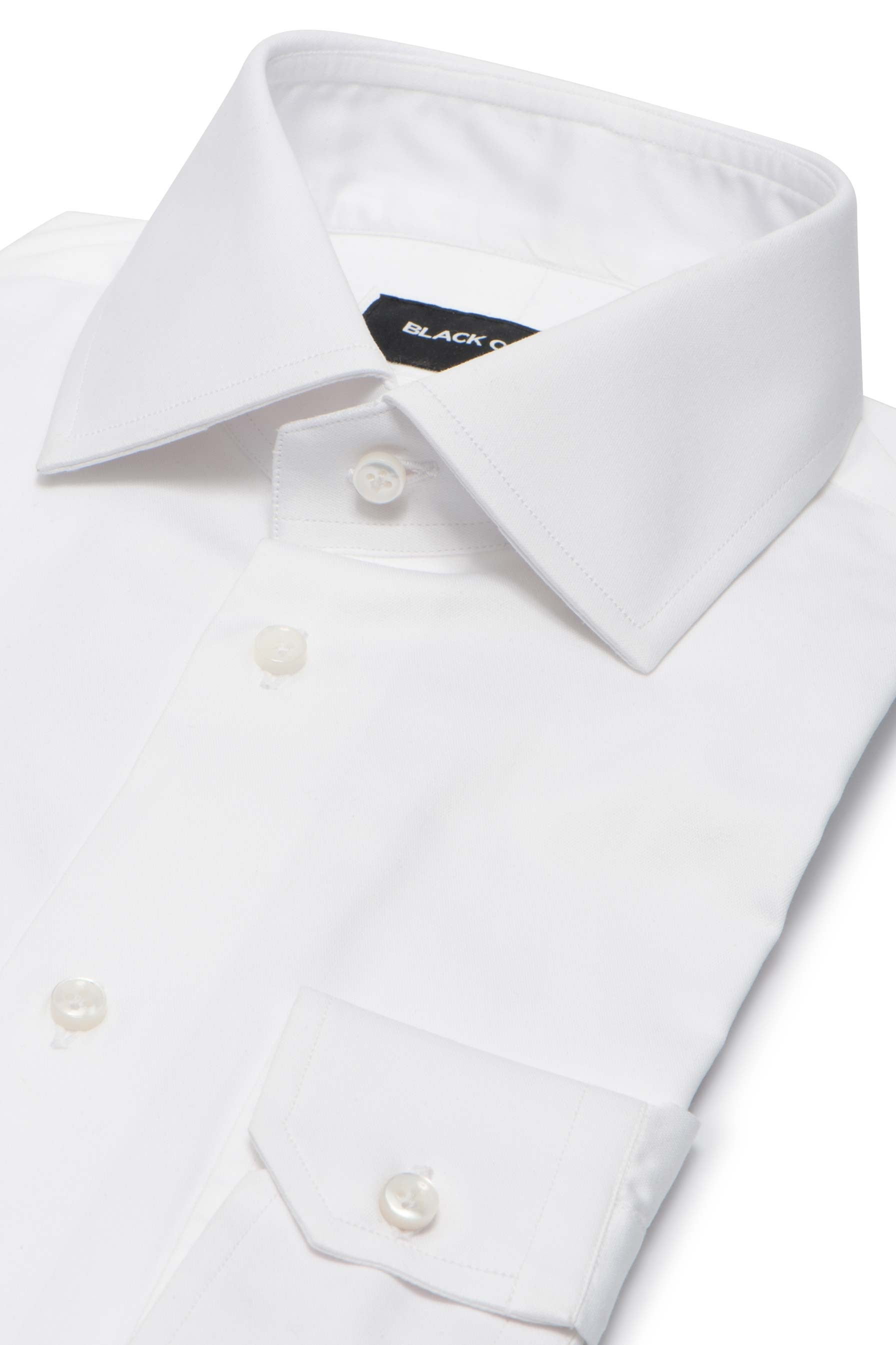 Solid White Plain Weave Dress Shirt