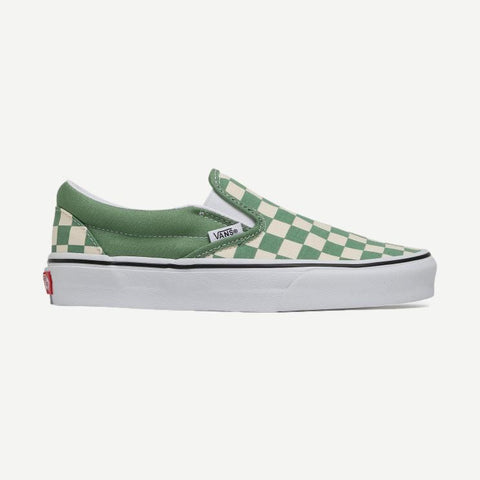 Classic Slip-on Checkerboards Shale Green - Galvanic.co