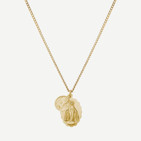 Mini Saints Necklace, Gold - Galvanic.co