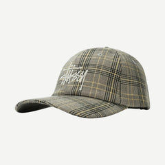 Big Logo Plaid Low Pro Cap - Galvanic.co