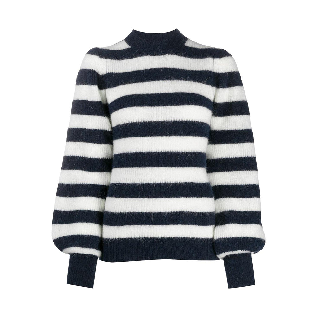 Striped Rib-Knit Sweater - Galvanic.co