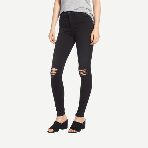 Barbara High Rise Ripped Super Skinny Jeans in Westbound