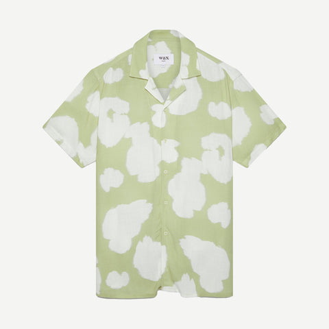 Didcot Poppy Soft Tech Viscose Shirt Sage - Galvanic.co
