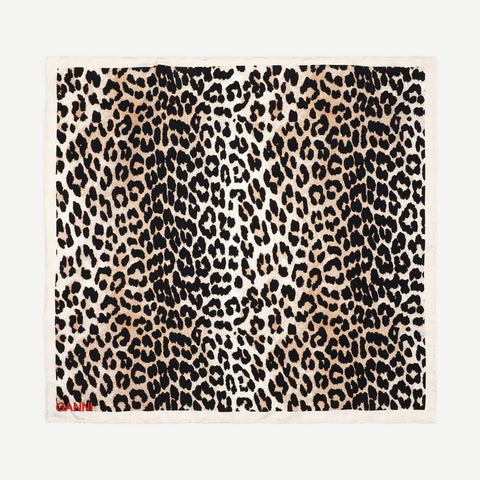 Silk Twill Scarf in Leopard - Galvanic.co