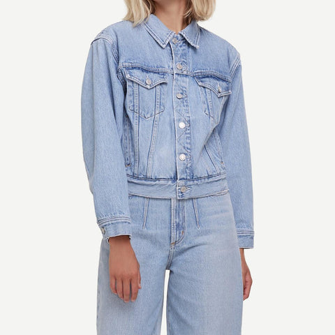 Blanca Elasticated Jean Jacket in Burst - Galvanic.co