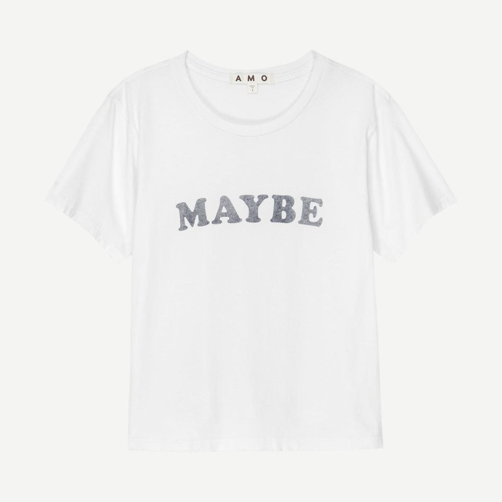 Maybe Classic Tee Vintage White - Galvanic.co