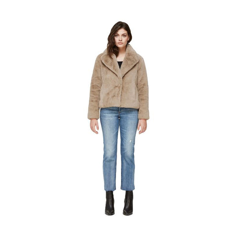 EMANUELA relaxed-fit faux fur jacket - Galvanic.co
