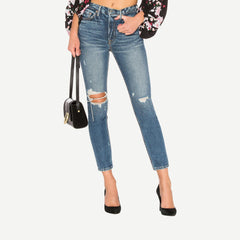 Karolina High-Rise Skinny in More Life - Galvanic.co
