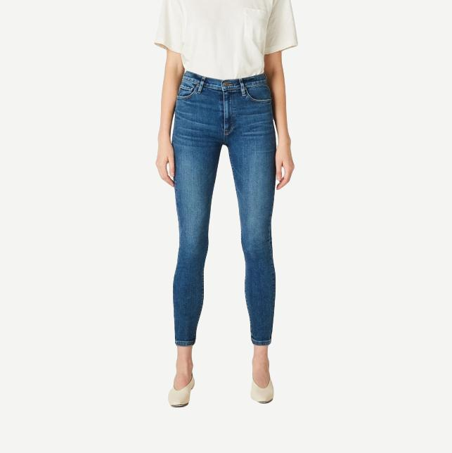 Hudson Barbara High Rise Super Skinny Ankle Jean in Temptations - Galvanic.co