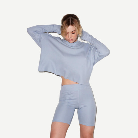Oversized Thermal Boy Long Sleeve in Light Blue - Galvanic.co