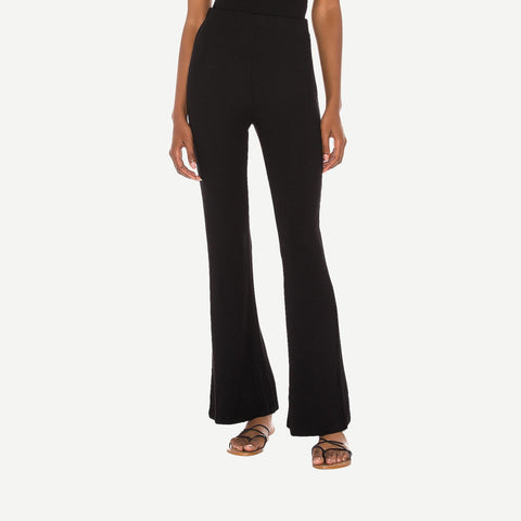 Ribbed Charlotte Pant in Black - Galvanic.co